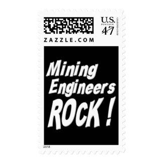 Mining Engineers Rock ! Stamp