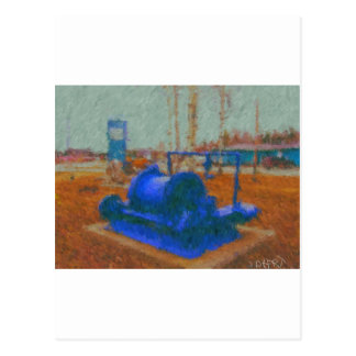 mining equipment painting by hart postcard