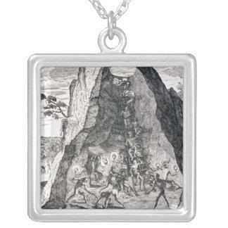 Mining', Frankfurt, 1602 Square Pendant Necklace