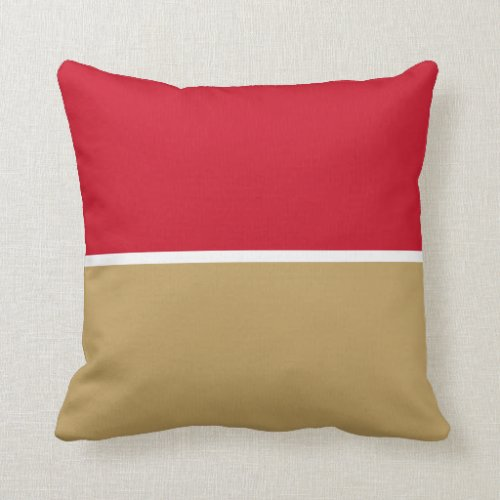 Mining Gold with Blood Throw Pillow