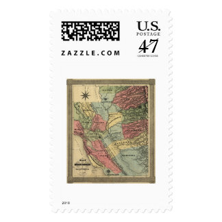 Mining in California Map - 1851 Postage