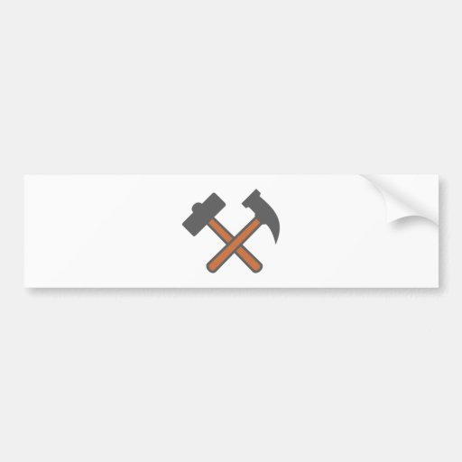 Mining industry of hammers mining hammer bumper stickers