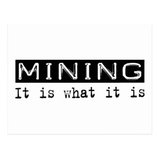 Mining It Is Postcard