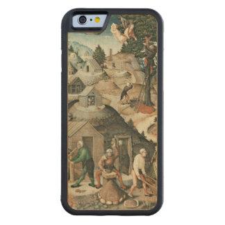 Mining landscape, 1521 carved maple iPhone 6 bumper case