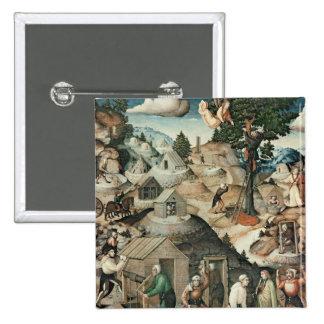 Mining landscape, 1521 pinback button