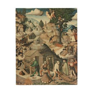 Mining landscape, 1521 wood print