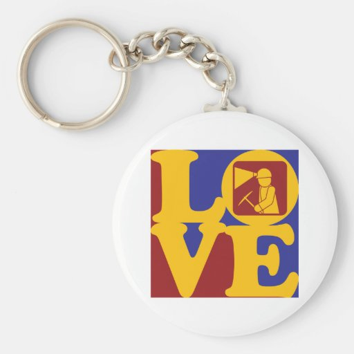 Mining Love Key Chains