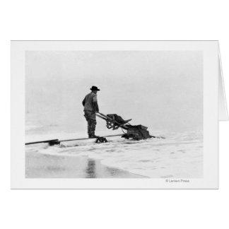 Mining on Beach at Nome, Alaska Photograph Card