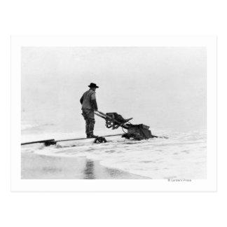 Mining on Beach at Nome, Alaska Photograph Postcard