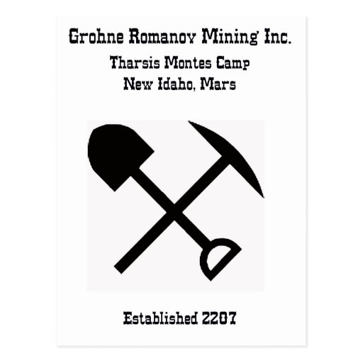 Mining on Mars Postcard