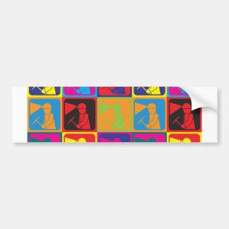 Mining Pop Art Bumper Sticker