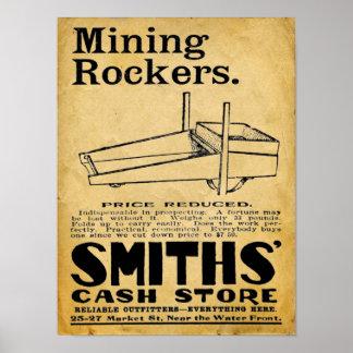 Mining Rockers - Vintage Mining Supplies Print