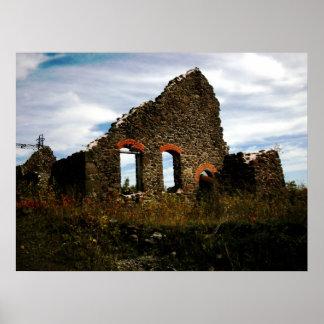 Mining Ruins Hancock Michigan Photo Poster