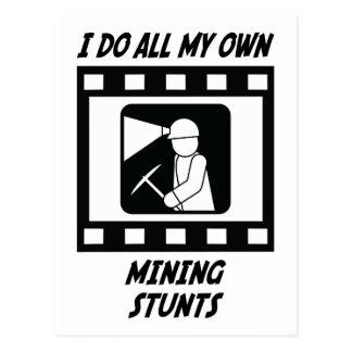 Mining Stunts Postcard