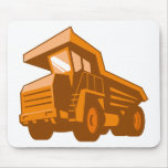 mining truck low angle retro style mousepads