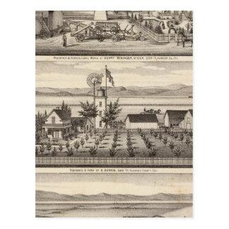 Mininger, Dennis & Hauschildt residences Postcard