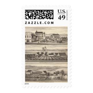 Mininger, Dennis & Hauschildt residences Stamps