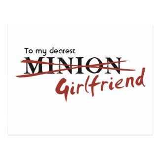 Minion Girlfriend Postcard