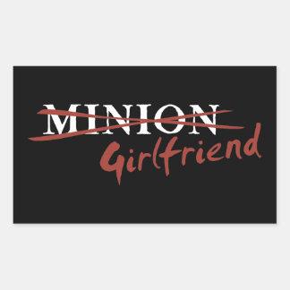 Minion Girlfriend Rectangular Sticker