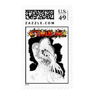 Minion of Cthulhu in Ceremonial Mask Postage
