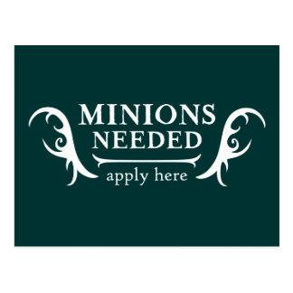 Minions Needed Postcard