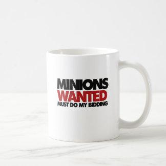Minions wanted coffee mugs