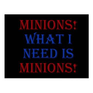 Minions! What I need is minions! Postcard