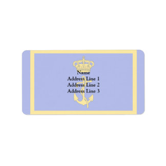 Minister Of The Regia Marina, Italy flag Personalized Address Label