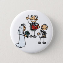 Minister Priest Reverend Performs Wedding Ceremony Button