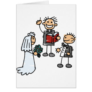 Minister Priest Reverend Performs Wedding Ceremony Cards