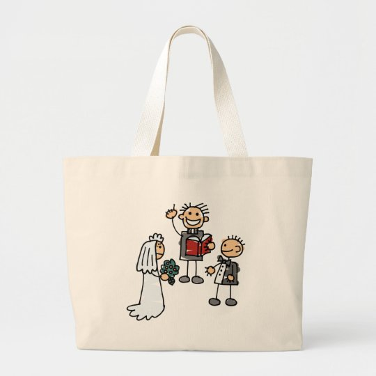 Minister Priest Reverend Performs Wedding Ceremony Large Tote Bag