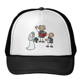 Minister Priest Reverend Performs Wedding Ceremony Trucker Hat