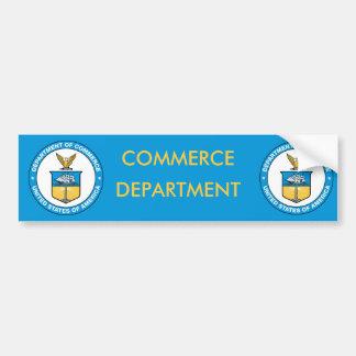 Ministerio de los E E U U de Comercio Etiqueta De Parachoque