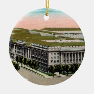 Ministerio de vintage del Comercio Adorno