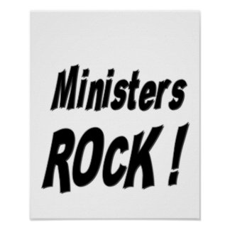Ministers Rock! Poster Print