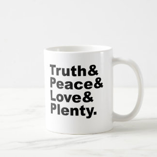 Ministries of Truth & Peace & Love & Plenty Classic White Coffee Mug