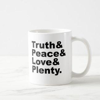 Ministries of Truth & Peace & Love & Plenty Classic White Coffee Mug