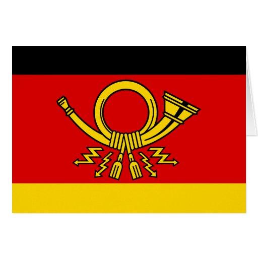 Ministro alemán del poste, bandera de Alemania Tarjeta De Felicitación