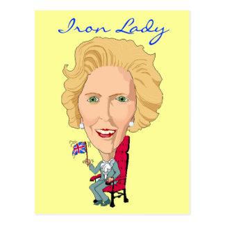 Ministro británico anterior dama de hierro de la p tarjeta postal