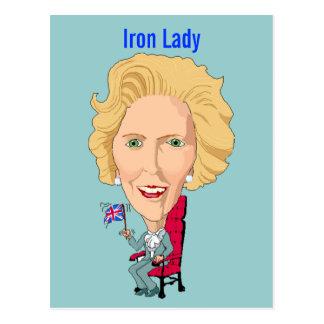 Ministro británico anterior dama de hierro de la postales