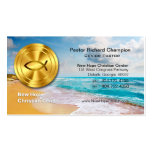 Ministro cristiano/pastor de la playa de oro de lo tarjeta de visita