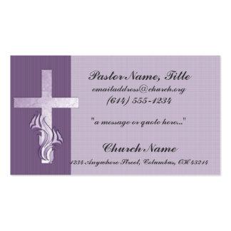 Ministro cruzado tarjeta de la iglesia de la lavan tarjetas de visita
