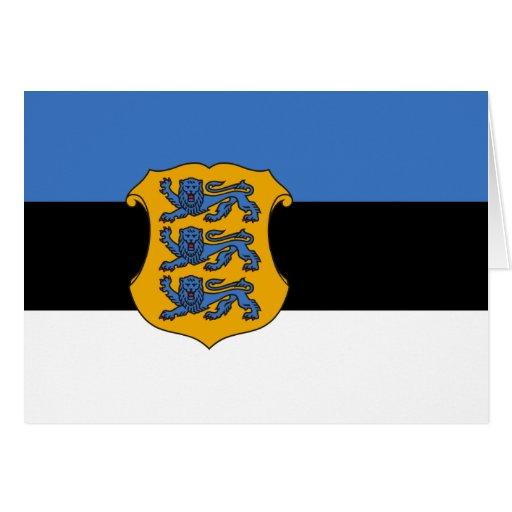 Ministro de Defensa de Estonia, bandera de Estonia Tarjeta De Felicitación