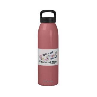 Ministro de la iglesia de las notas de la música botella de beber