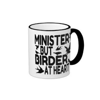 Ministro del amante del pájaro taza de café