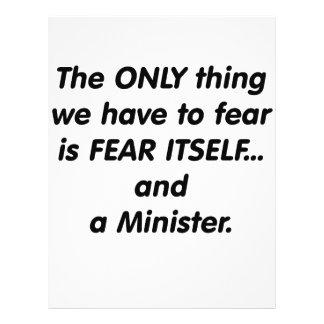 Ministro del miedo tarjetones
