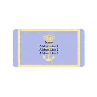 Ministro del puerto deportivo de Regia, bandera de Etiquetas De Dirección