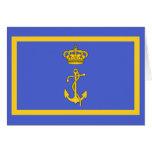 Ministro del puerto deportivo de Regia, bandera de Tarjeta