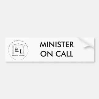 MINISTRO EN PEGATINA PARA EL PARACHOQUES DE LA LLA PEGATINA PARA AUTO