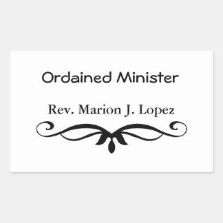 MINISTRO ORDENADO REGALOS PEGATINA RECTANGULAR